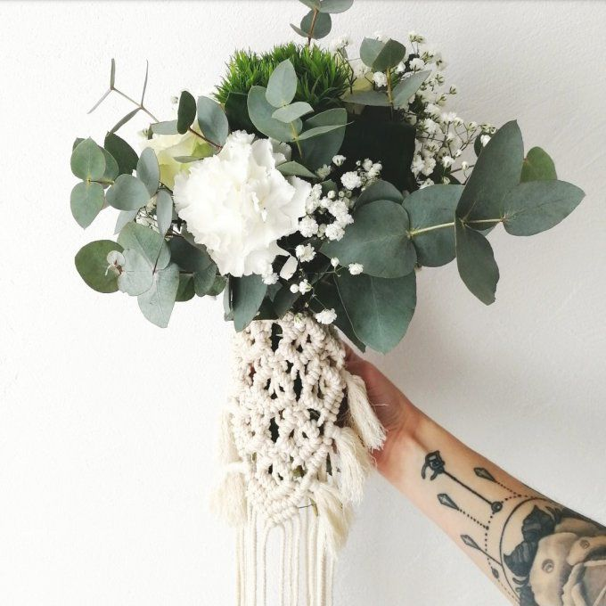 tour de bouquet en macramé