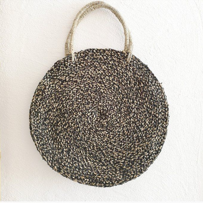 round bag natural and black